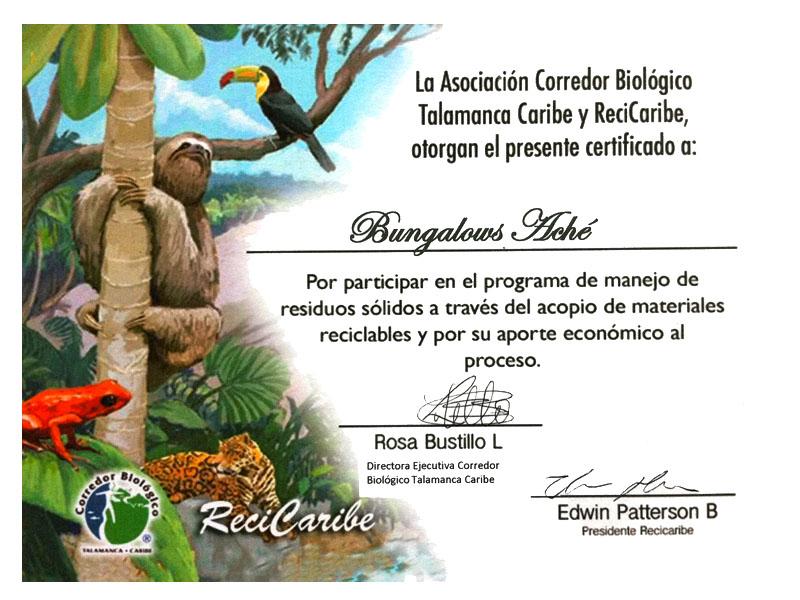 Bungalows Aché in Cahuita